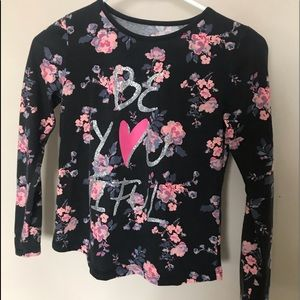 Girls size 10/12 floral long sleeve
